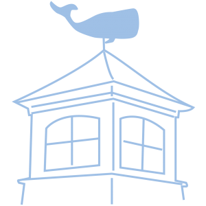 cupula with whale weathervane